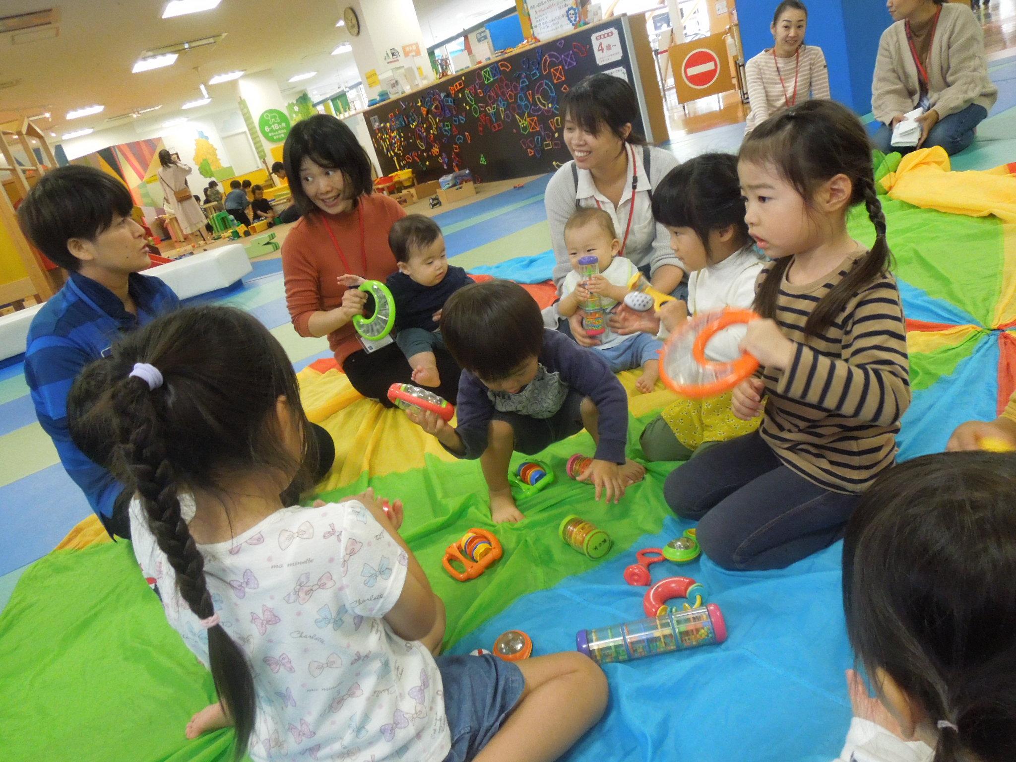 10/15(火) 赤ちゃんの日「遊び遊具体験会」のご報告