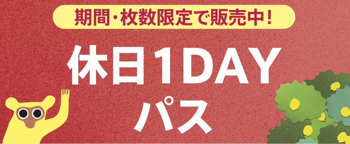 「休日1DAYパス」販売期間延長しました!