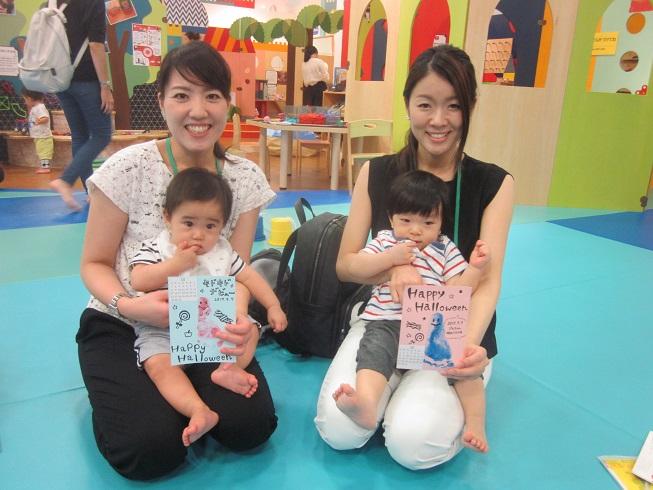 赤ちゃんの日イベント「足形でカラフルおばけを作ろう!」を行いました
