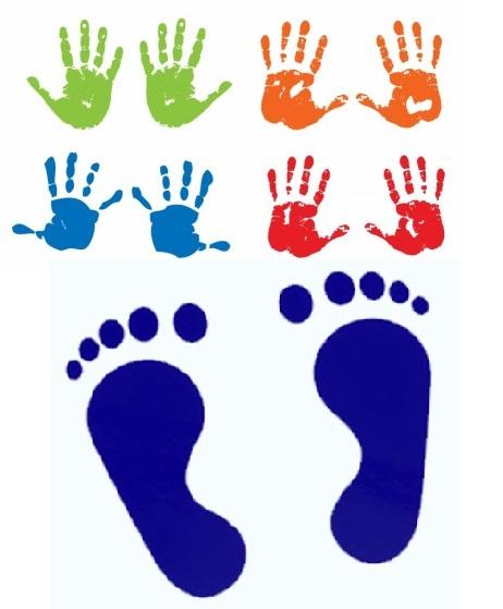 赤ちゃんの日イベント「手型・足型をとろう」