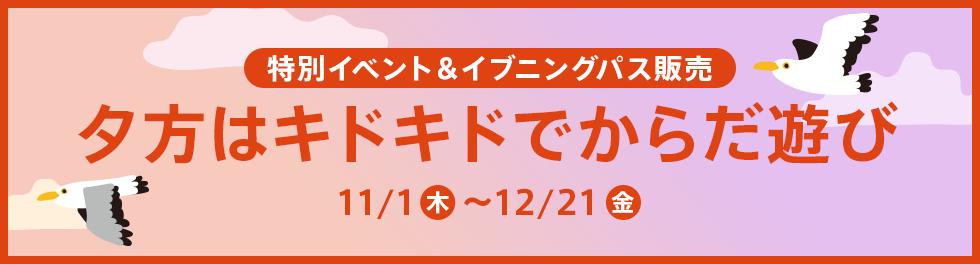 夕方からでもお得!イブニングパスを11月1日より販売いたします!