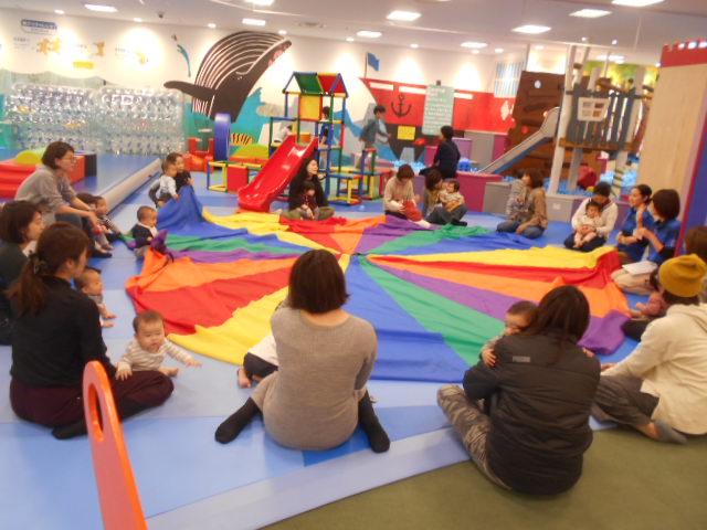 赤ちゃんイベント「パラシュートで遊ぼう」を開催しました!
