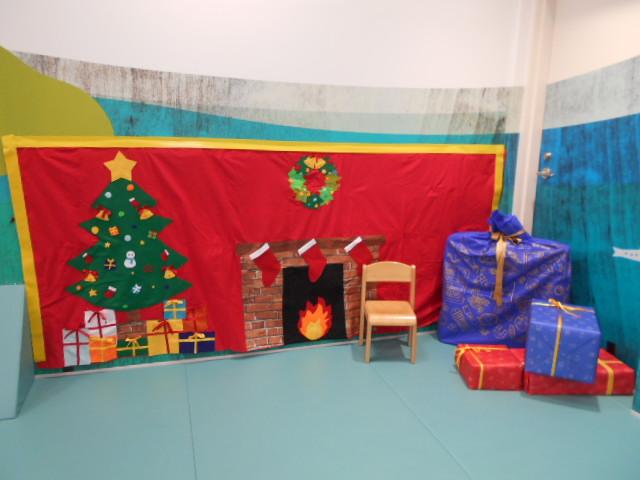 場内にクリスマスのフォトスポットが登場しています!