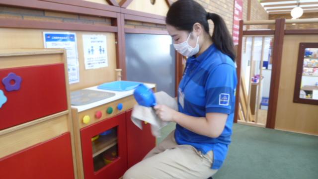あそび道具の除菌とマスク着用について