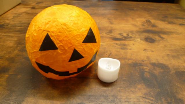 【秋のクラフト体験】かぼちゃのランタンづくり!