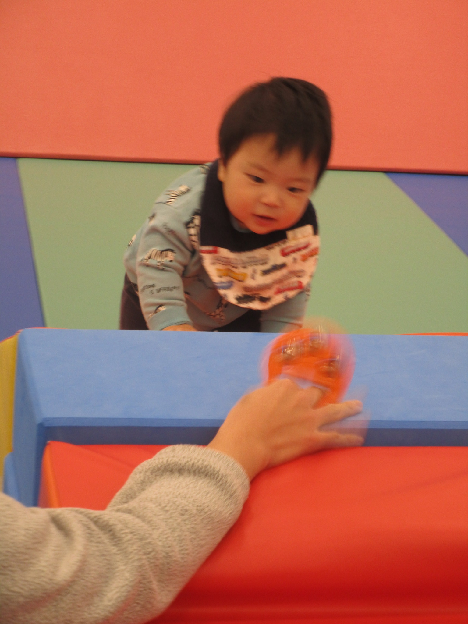 赤ちゃんの日イベント ハイハイレース開催!