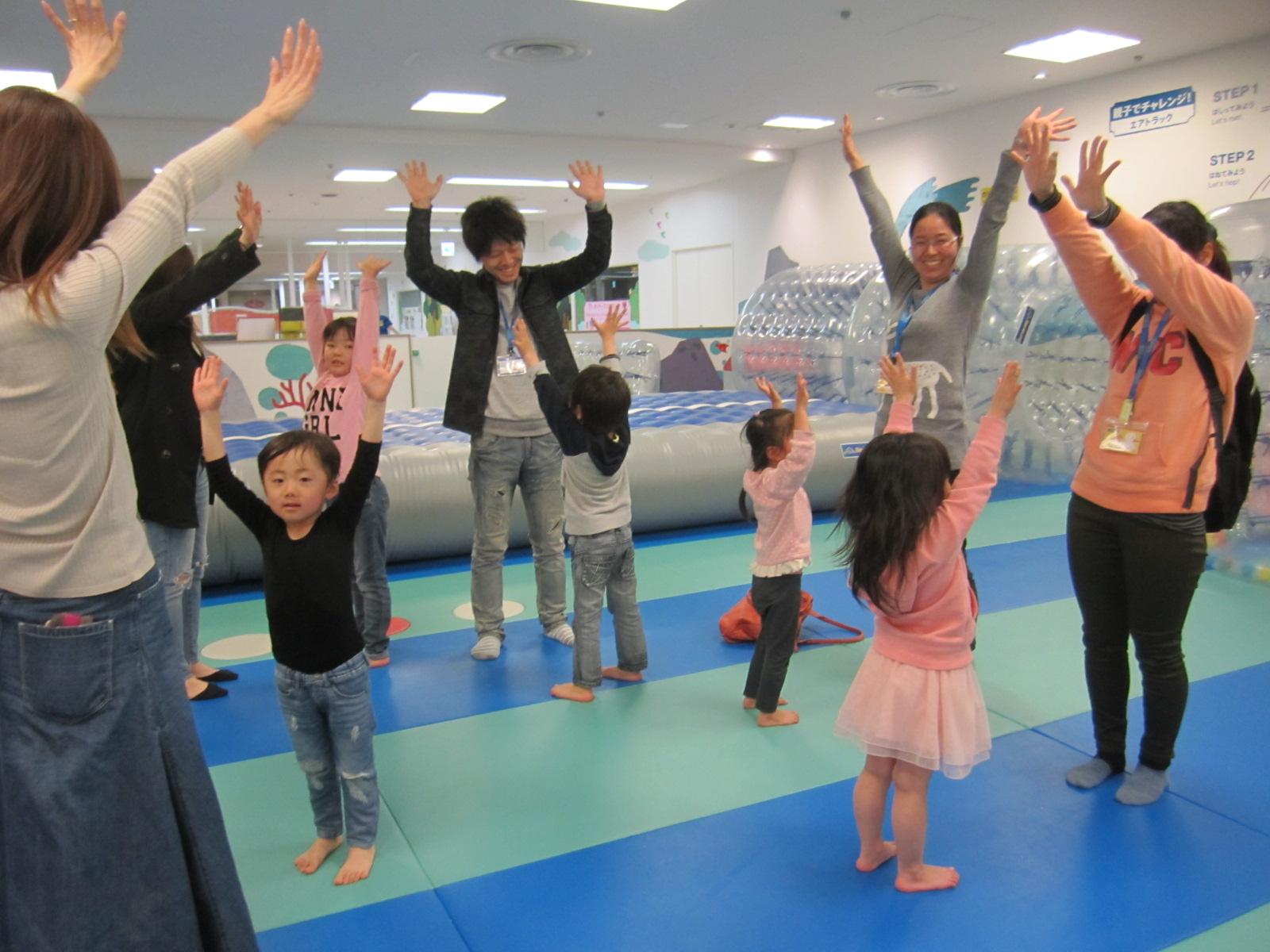 3月25日告知イベント『パラシュートで桜を吹かせよう』