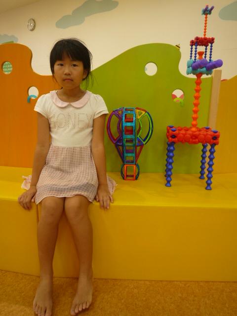 あきかちゃん10才「気球とキリン」作品