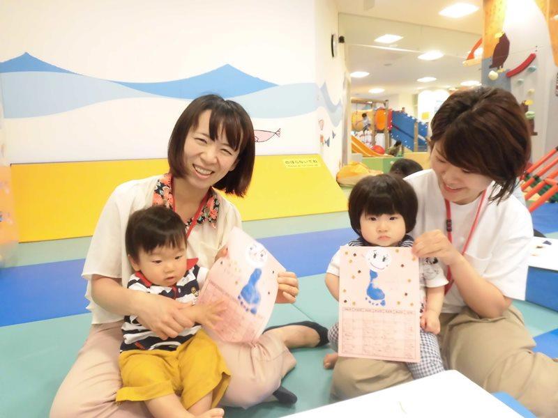 【毎週木曜日は赤ちゃんの日】手形・足形で10月のカレンダー作り!
