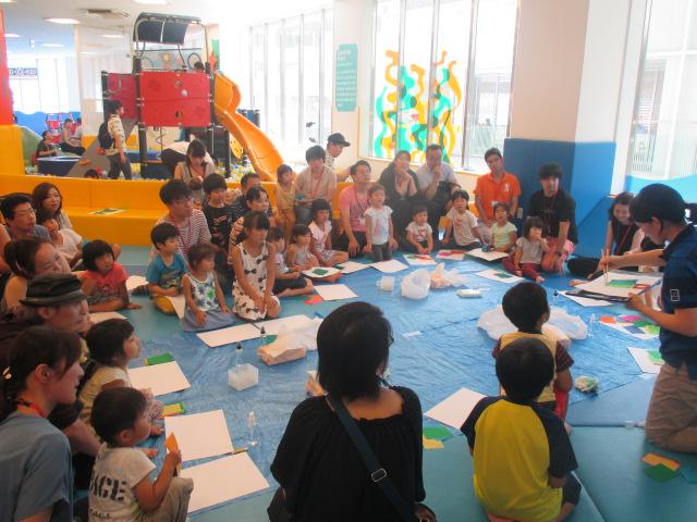 6/30 梅雨イベント「にじみ紙でお絵描き」