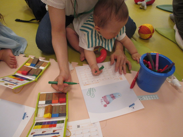 赤ちゃんの日「9月カレンダー作り」