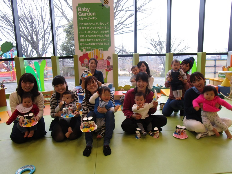 赤ちゃんイベント『ひなまつりクラフト』