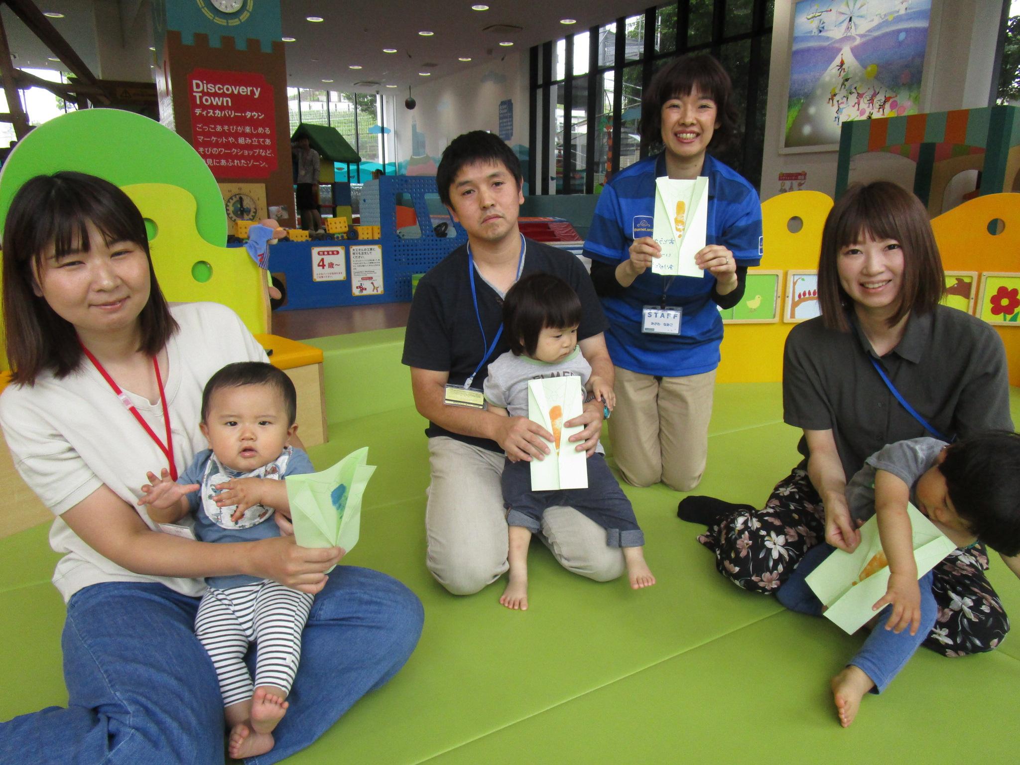 赤ちゃんイベント『父の日足形スタンプ』