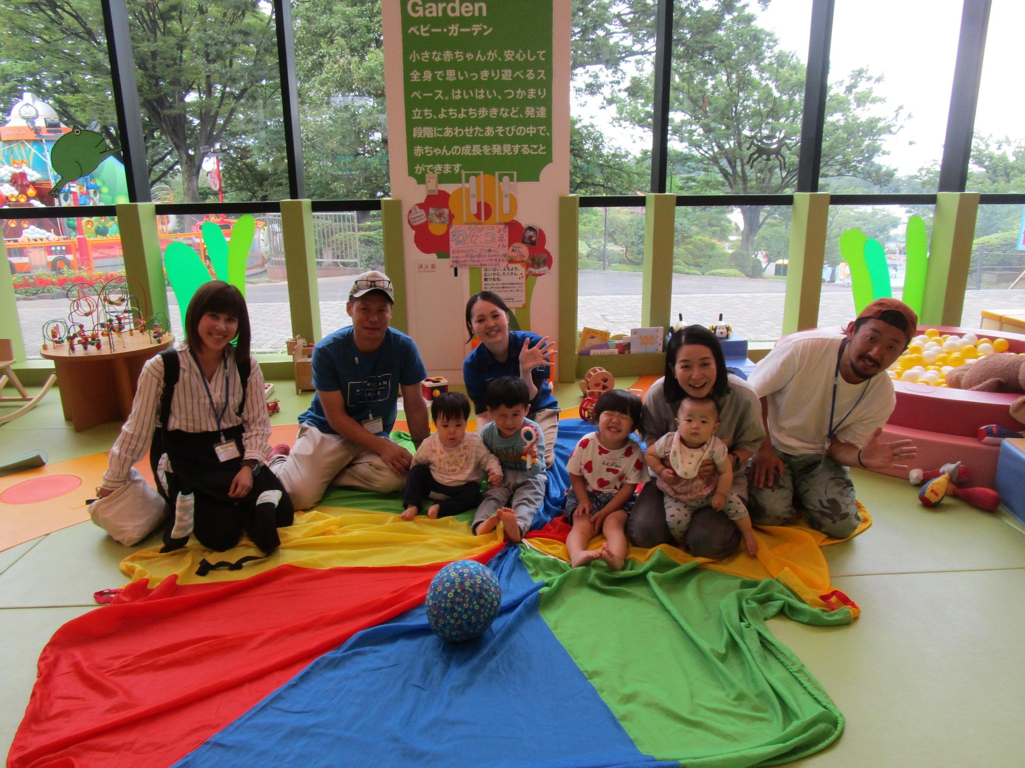 赤ちゃんイベント『パラバルーンであそぼう!』 『1歳のお誕生日会』