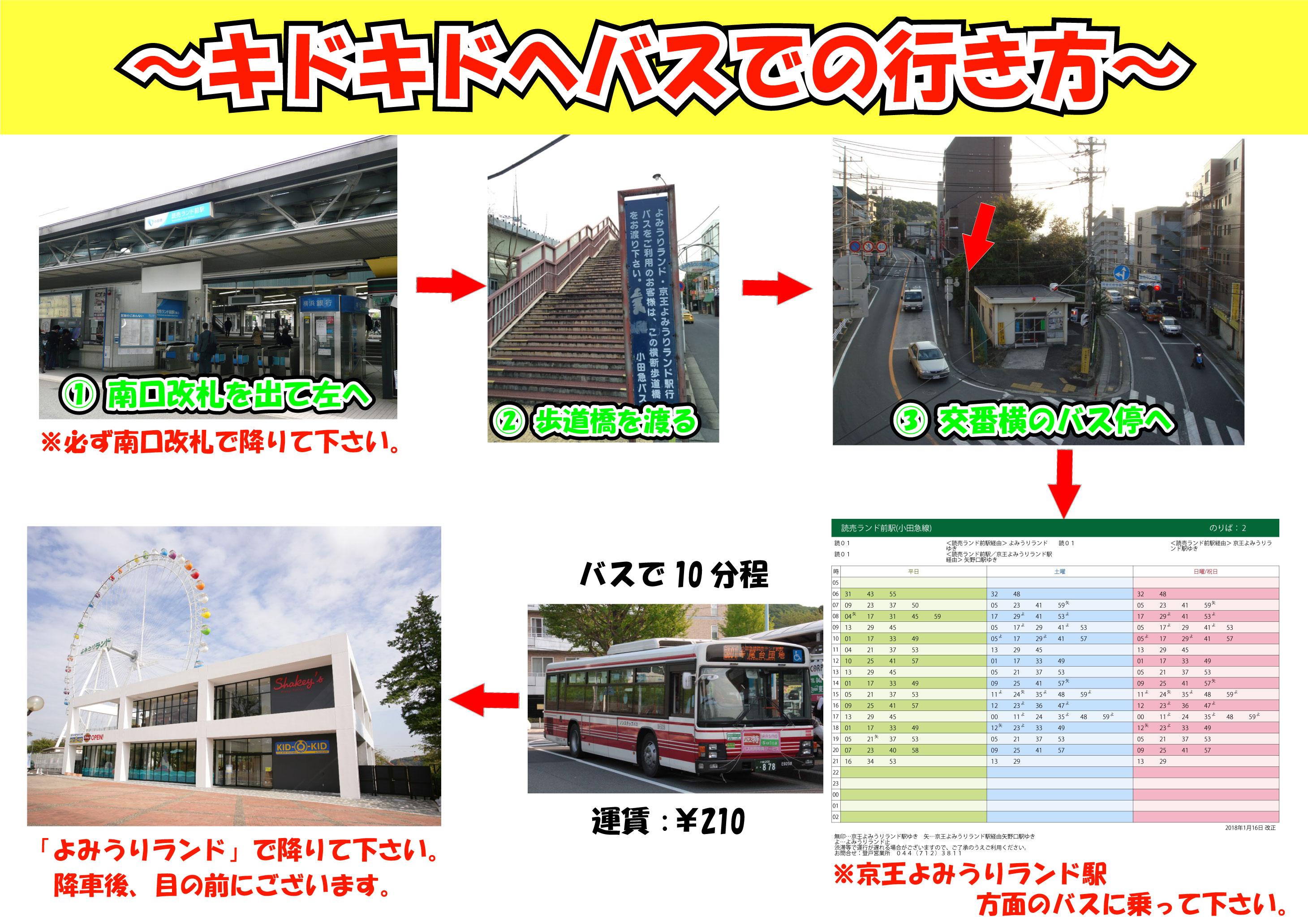 読売ランド前駅 バス行き方マップ