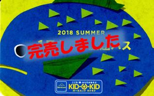 夏の1日遊び放題パス完売のお知らせ